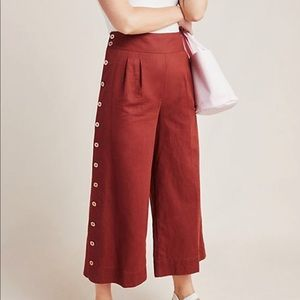 Anthropologie A+ wide legged pant